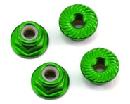 175RC Aluminum 4mm Serrated Locknuts (Green)   product-also-purchased