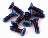 175RC B74 G5 Titanium Differential Screws (Burnt Blue) (8) | product-related
