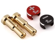 1UP Racing LowPro Bullet Plug Grips w/4-5mm Bullets (Black/Red)   product-related