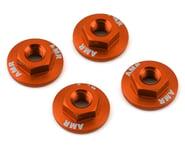 AMR 4mm Aluminum Serrated Flange Nut (Orange) (4) | product-also-purchased