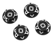 Avid RC Triad 17mm Fine Thread Capped Wheel Nut Set (Black) (4) (M12x1.0)   product-related