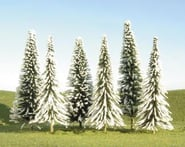 """Bachmann Scenescapes Pine Trees w/Snow (6) (5-6"""")   product-also-purchased"""