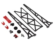 """DragRace Concepts 10"""" Slider Wheelie Bar w/Plastic Wheels (Red) 
