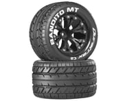 """DuraTrax Bandito 2.8"""" Mounted Nitro Rear Truck Tires (Black) (2) (1/2 Offset) 