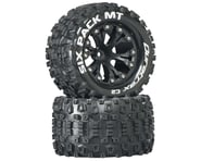 """DuraTrax Sixpack MT 2.8"""" Mounted Nitro Rear Truck Tires (Black) (2) (1/2 Offset)   product-related"""