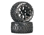 """DuraTrax Six Pack ST 2.8"""" 2WD Mounted Front C2 Tires (Black) (2) 