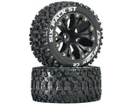 """DuraTrax Sixpack ST 2.8"""" Mounted Nitro Rear Truck Tires (Black) (2) (1/2 Offset) 