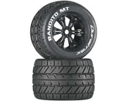 """DuraTrax Bandito MT 3.8"""" Mounted Tires, Black (2) 