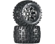 """DuraTrax Lockup MT 3.8"""" Mounted Truck Tires (Chrome) (2) (1/2 Offset) 