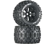 """DuraTrax Six Pack MT 3.8"""" Pre-Mounted Truck Tires (Black) (2) (1/2 Offset) 