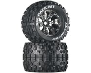 """DuraTrax Six Pack MT 3.8"""" Pre-Mounted Truck Tires (Chrome) (2) (1/2 Offset) 