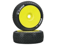 DuraTrax X-Cons Pre-Mounted  1/8 Buggy Tire (Yellow) (2) | product-related