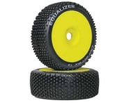DuraTrax Pre-Mounted Equalizer 1/8 Buggy Tire (Yellow) (2) (Soft - C2) | product-related