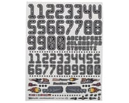"""Firebrand RC Numbers Decal Sheet (Black) (8.5x11"""") 