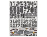 """Firebrand RC Numbers Decal Sheet (White) (8.5x11"""") 