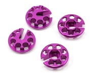 HB Racing Aluminum Shock Spring Perch Set (Purple) (4) | product-related