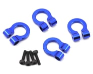 Hot Racing 1/10 Aluminum Tow Shackle D-Rings (Blue) (4)   product-also-purchased