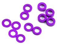 ProTek RC Aluminum Ball Stud Washer Set (Purple) (12) (0.5mm, 1.0mm & 2.0mm) | product-related