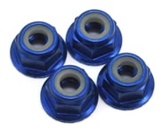 Traxxas 4mm Aluminum Flanged Serrated Nuts (Blue) (4) | product-also-purchased