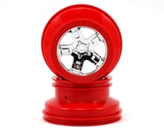 Traxxas 12mm Hex Dual Profile Short Course Wheels (Chrome/Red) (2) (Slash Front) | product-related