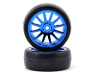 Traxxas LaTrax Pre-Mounted Slick Tires & 12-Spoke Wheels (Blue Chrome) (2)   product-related