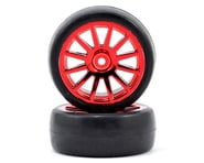 Traxxas LaTrax Pre-Mounted Slick Tires & 12-Spoke Wheels (Red Chrome) (2) | product-related