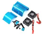 Yeah Racing 1/8 Twin Fan Aluminum Heat Sink w/2 Fans (Blue) (40.8mm diameter) | product-also-purchased