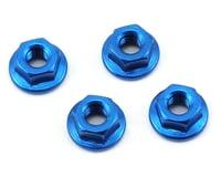 175RC Aluminum 4mm Serrated Wheel Nuts (Blue) (Losi 22SCT 2.0)