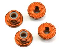 175RC Aluminum 4mm Serrated Locknuts (Orange) (Team Associated TC7)