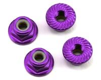 175RC Aluminum 4mm Serrated Locknuts (Purple) (Losi 22SCT)