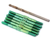 175RC Associated B6.3/B6.3D HD Titanium Turnbuckle Set (Green) (6)