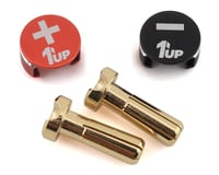1UP Racing LowPro Bullet Plug Grips w/4mm Bullets (Black/Red)