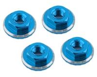 1UP Racing Lockdown UltraLite 4mm Serrated Wheel Nuts (Bright Blue) (4) (Yokomo YZ-2 CAL2)