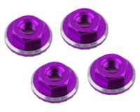 1UP Racing Lockdown UltraLite 4mm Serrated Wheel Nuts (Purple) (4) (Yokomo YZ-2 CAL2)