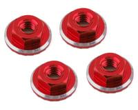 1UP Racing Lockdown UltraLite 4mm Serrated Wheel Nuts (Red) (4) (Yokomo YZ-2 CAL2)