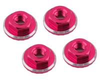 1UP Racing Lockdown UltraLite 4mm Serrated Wheel Nuts (Pink) (4) (Yokomo YZ-2 CAL2)