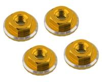 1UP Racing Lockdown UltraLite 4mm Serrated Wheel Nuts (Gold) (4) (Yokomo YZ-2 CAL2)
