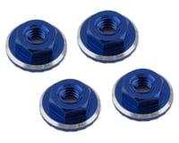 1UP Racing Lockdown UltraLite 4mm Serrated Wheel Nuts (Dark Blue) (4) (Yokomo YZ-2 CAL2)