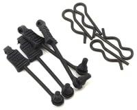 Arrma Outcast 6S BLX 1/8 Body Clips w/Rubber Retainers (Black) (4)