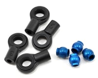 Team Associated RC10 B44.3 Factory Shock Ball Ends with Aluminum Eyelets (Blue)