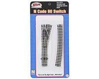 Atlas Railroad N-Gauge Code 80 Custom Line Right-Hand Switch Turnout