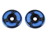 Avid RC Triad HD Wing Mount Buttons (2) (Black/Blue) (S-Workz S350 BE1)