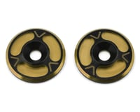 Avid RC Triad HD Wing Mount Buttons (2) (Black/Gold) (S-Workz S350 BE1)