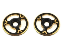 Avid RC Triad Wing Mount Buttons (2) (Black/Gold) (S-Workz S12-1MR)