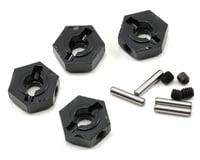Axial Wraith 1.9 Narrow 12mm Aluminum Hub Set w/Hardware (Black) (4)