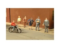 Bachmann SceneScapes City People w/ Motorcycle (7) (O Scale)