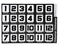 Bittydesign Race Number Decal Sheet (34x24cm)