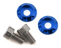 Team Brood M3 Motor Washer Heatsink w/Screws (Blue) (2)
