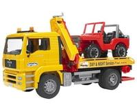 Bruder Toys MAN TGA Tow Truck w/4x4 Vehicle