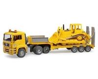 Bruder Toys 02778 Man Tga Loader Truck with Cat Bulldozer - Yellow
